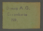 Meal card from the Kovno ghetto
