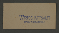 1995.89.884 front Ink stamp impression from an administrative department of the Kovno ghetto  Click to enlarge