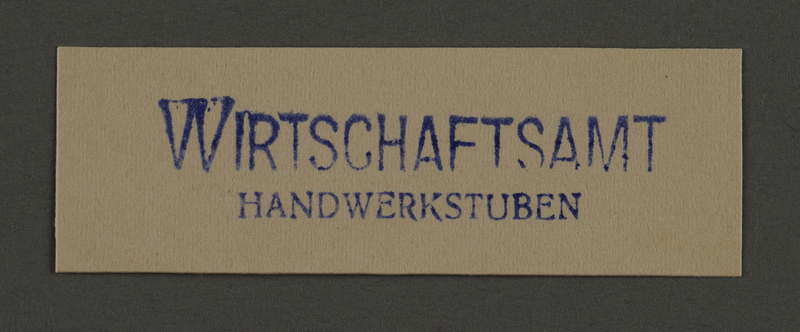 1995.89.885 front Ink stamp impression from an administrative department of the Kovno ghetto