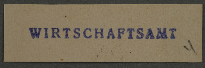 1995.89.886 front Ink stamp impression from an administrative department of the Kovno ghetto