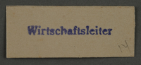 1995.89.887 front Ink stamp impression from an administrative department of the Kovno ghetto  Click to enlarge