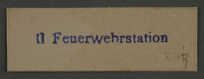 1995.89.894 front Ink stamp impression from an administrative department of the Kovno ghetto