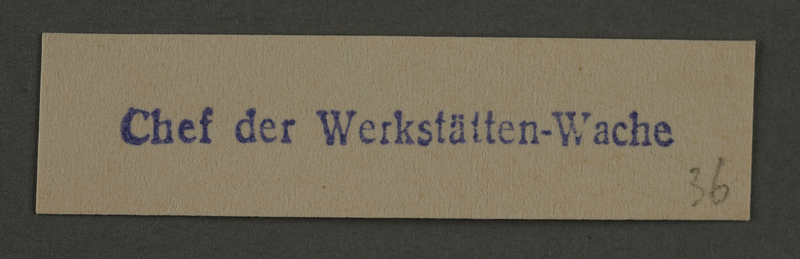 1995.89.903 front Ink stamp impression from an administrative department of the Kovno ghetto