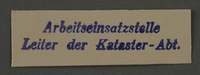 1995.89.911 front Labor Department stamp impression from the Kovno ghetto  Click to enlarge
