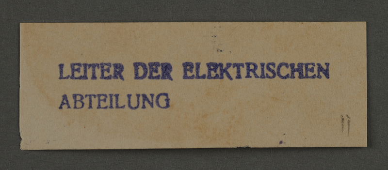 1995.89.917 front Ink stamp impression from an administrative department of the Kovno ghetto