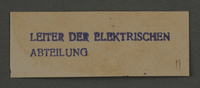 1995.89.917 front Ink stamp impression from an administrative department of the Kovno ghetto  Click to enlarge
