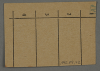 1995.89.92 back Work assignment slip from the Kovno ghetto  Click to enlarge