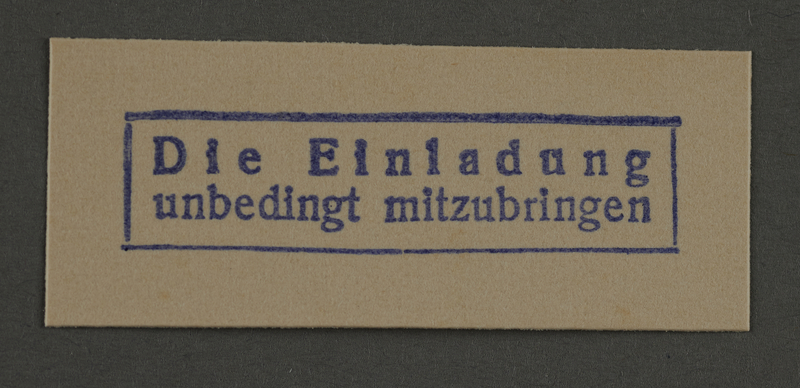 1995.89.922 front Ink stamp impression from an administrative department of the Kovno ghetto