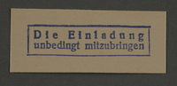 1995.89.922 front Ink stamp impression from an administrative department of the Kovno ghetto  Click to enlarge