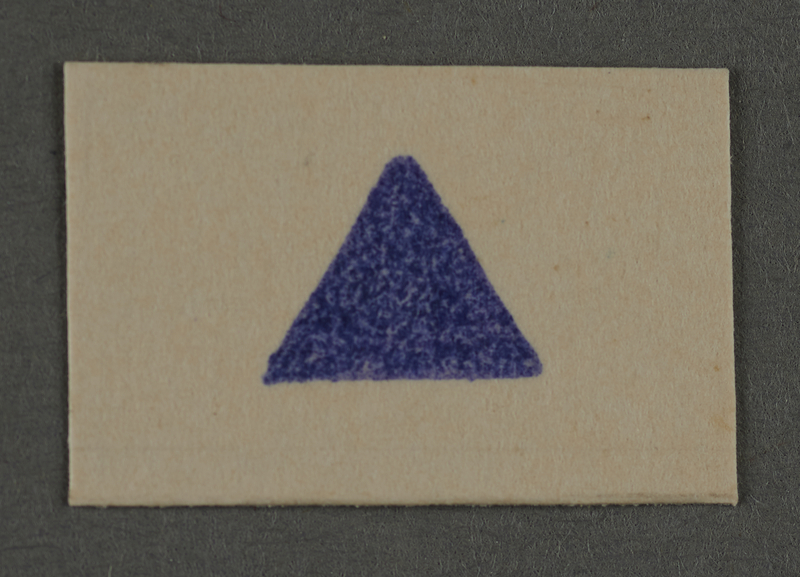 1995.89.930 front Ink stamp impression from an administrative department of the Kovno ghetto