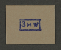 1995.89.940 front Ink stamp impression from an administrative department of the Kovno ghetto  Click to enlarge