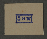 1995.89.942 front Ink stamp impression from an administrative department of the Kovno ghetto  Click to enlarge