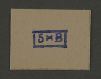 1995.89.948 front Ink stamp impression from an administrative department of the Kovno ghetto  Click to enlarge