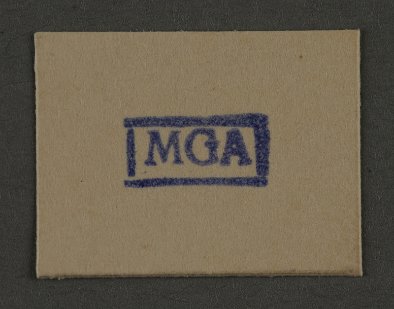 1995.89.949 front Ink stamp impression from an administrative department of the Kovno ghetto