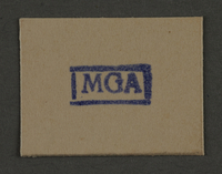 1995.89.949 front Ink stamp impression from an administrative department of the Kovno ghetto  Click to enlarge