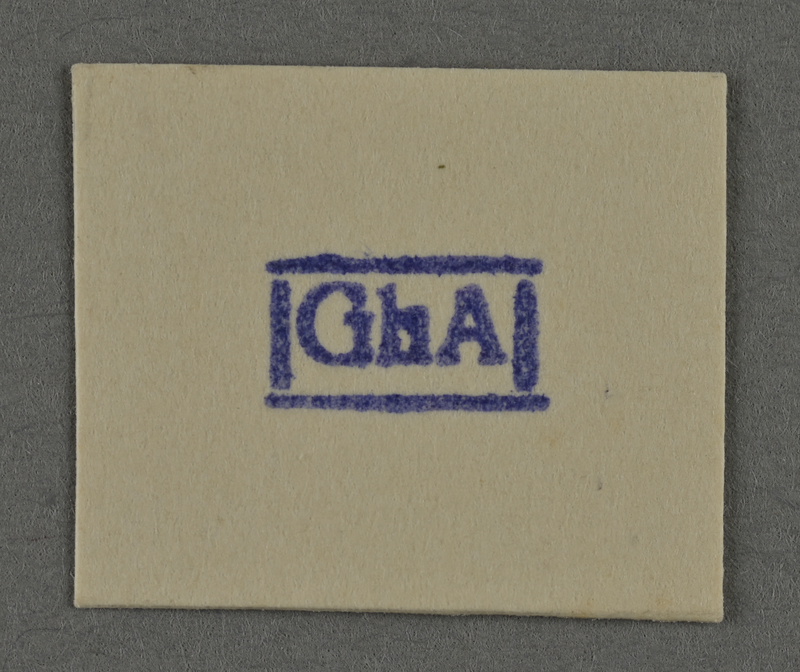 1995.89.954 front Ink stamp impression from an administrative department of the Kovno ghetto