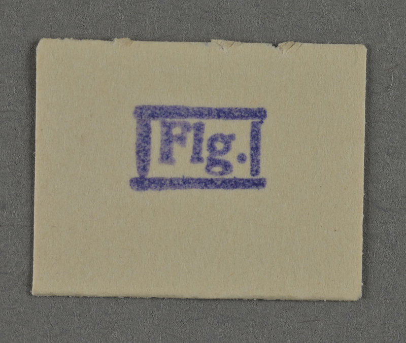 1995.89.955 front Ink stamp impression from an administrative department of the Kovno ghetto