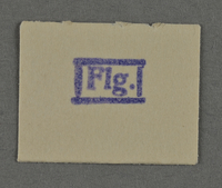 1995.89.955 front Ink stamp impression from an administrative department of the Kovno ghetto  Click to enlarge