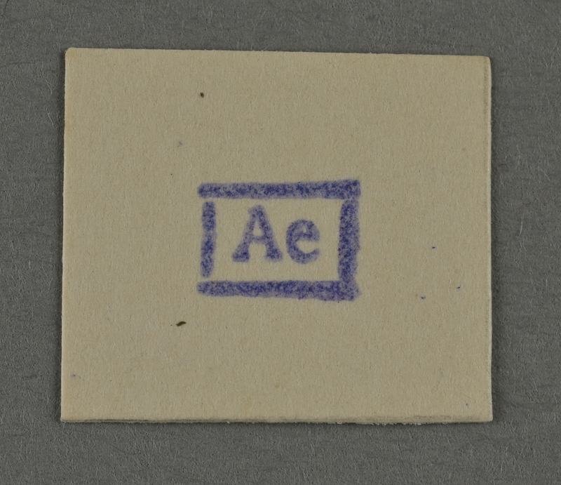 1995.89.958 front Ink stamp impression from an administrative department of the Kovno ghetto