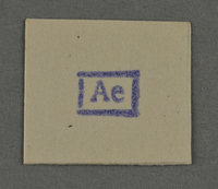 1995.89.958 front Ink stamp impression from an administrative department of the Kovno ghetto  Click to enlarge