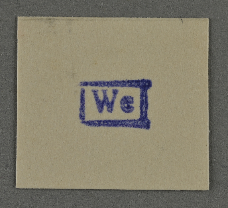 1995.89.959 front Ink stamp impression from an administrative department of the Kovno ghetto