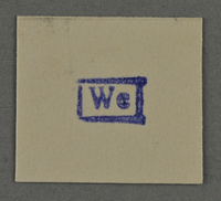 1995.89.959 front Ink stamp impression from an administrative department of the Kovno ghetto  Click to enlarge