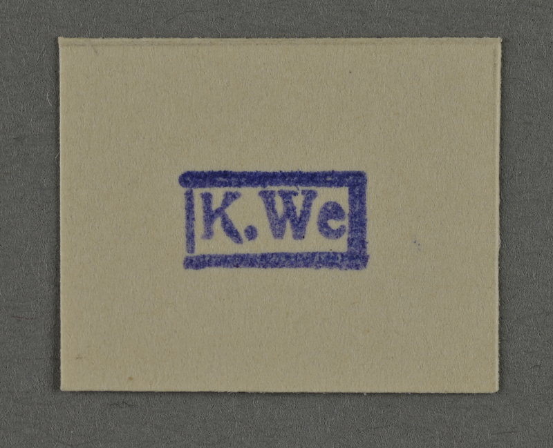 1995.89.964 front Ink stamp impression from an administrative department of the Kovno ghetto