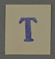 1995.89.970 front Ink stamp impression from an administrative department of the Kovno ghetto  Click to enlarge