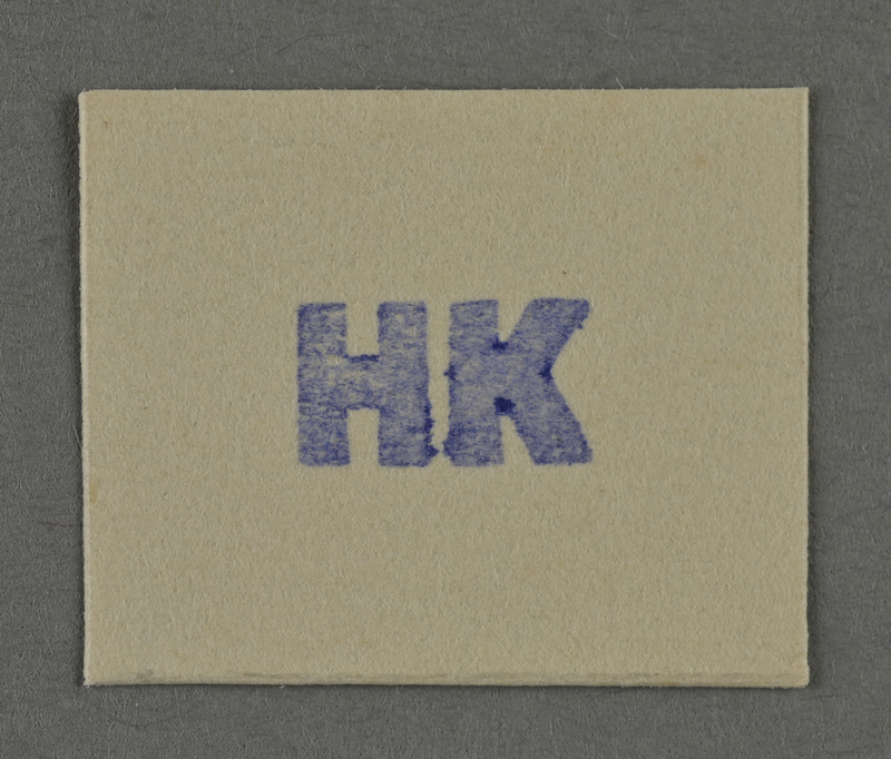 1995.89.976 front Ink stamp impression from an administrative department of the Kovno ghetto