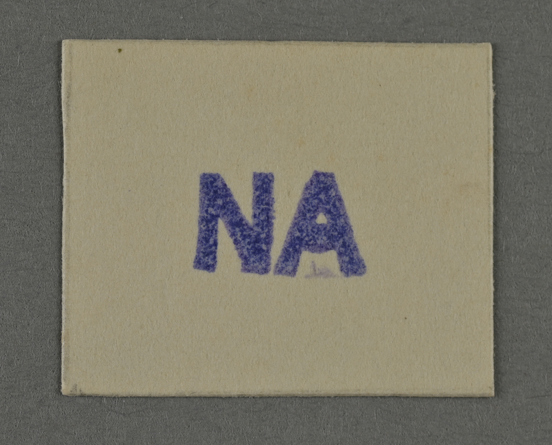 1995.89.977 front Ink stamp impression from an administrative department of the Kovno ghetto