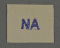 1995.89.977 front Ink stamp impression from an administrative department of the Kovno ghetto  Click to enlarge
