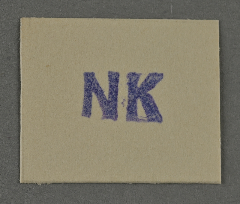 1995.89.979 front Ink stamp impression from an administrative department of the Kovno ghetto