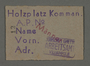 Work pass from the Kovno ghetto