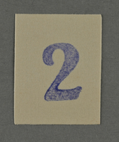 1995.89.982 front Ink stamp impression from an administrative department of the Kovno ghetto  Click to enlarge