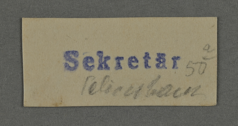 1995.89.985 front Ink stamp impression from an administrative department of the Kovno ghetto