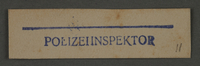 1995.89.994 front Ink stamp impression from an administrative department of the Kovno ghetto  Click to enlarge