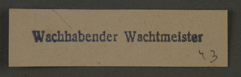 1995.89.996 front Ink stamp impression from an administrative department of the Kovno ghetto