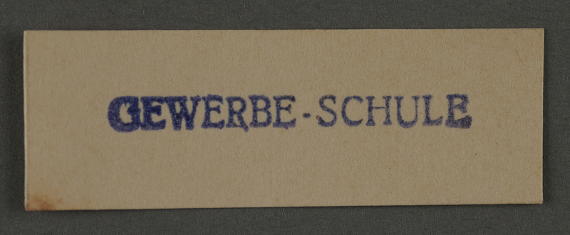 1995.89.999 front Ink stamp impression from an administrative department of the Kovno ghetto
