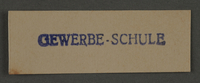 1995.89.999 front Ink stamp impression from an administrative department of the Kovno ghetto  Click to enlarge