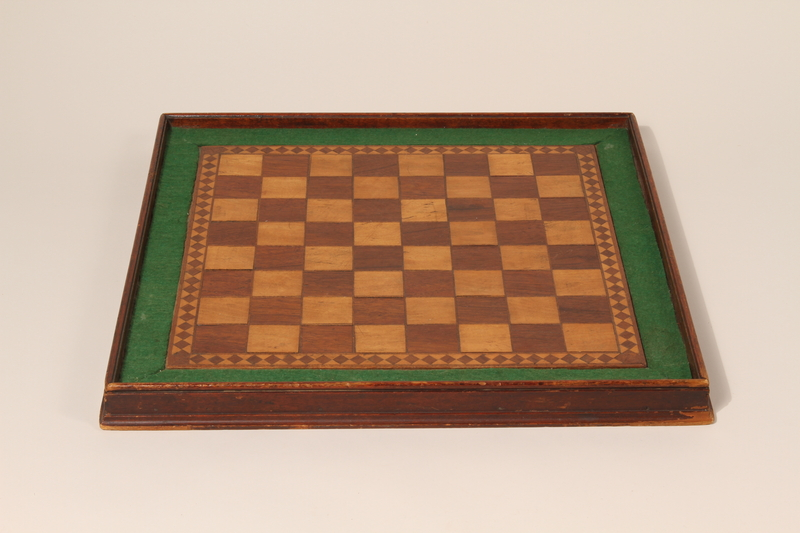 1995.90.1 front Chessboard handmade postwar by a liberated inmate