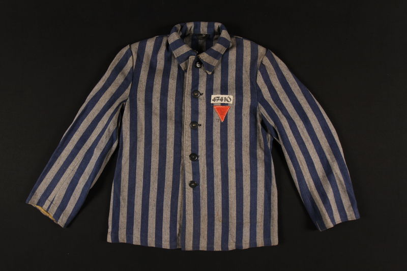 1995.93.1 front Jacket issued as a uniform to an inmate in the Dachau concentration camp