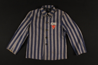 1995.93.1 front Jacket issued as a uniform to an inmate in the Dachau concentration camp  Click to enlarge
