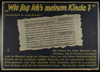 1995.96.1 front Nazi propaganda poster using British news reports to praise the power of the German Reich  Click to enlarge
