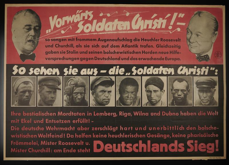 1995.96.100 front Nazi propaganda poster