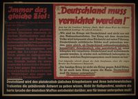 1995.96.102 front Nazi propaganda poster  Click to enlarge