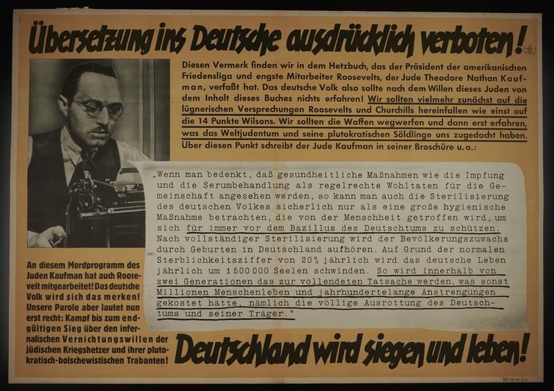 1995.96.106 front Nazi propaganda poster