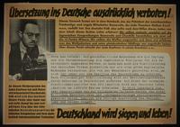 1995.96.106 front Nazi propaganda poster  Click to enlarge