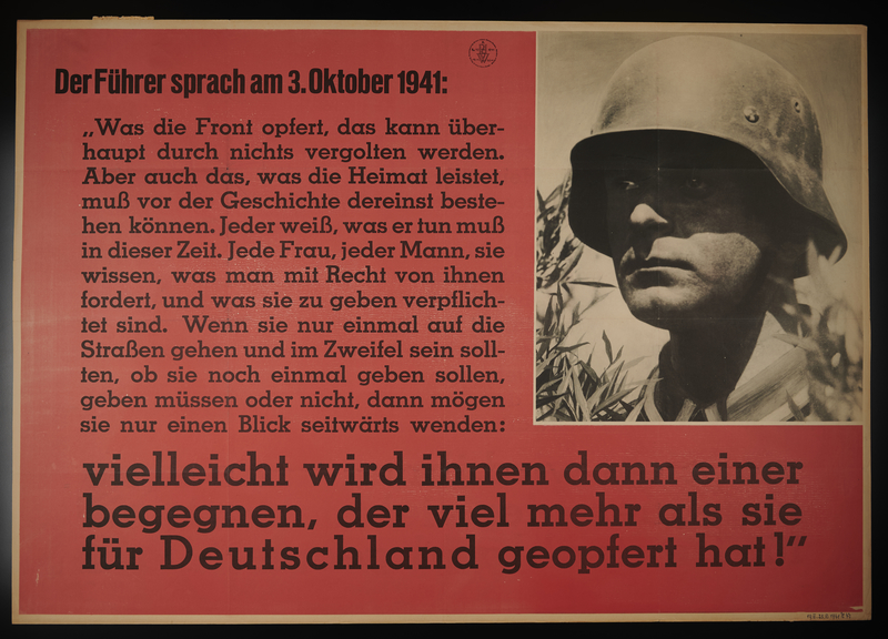 1995.96.109 front Nazi propaganda poster