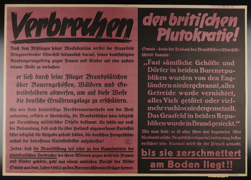 1995.96.11 front Nazi propaganda poster