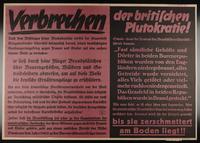 1995.96.11 front Nazi propaganda poster  Click to enlarge